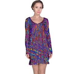 Modern Abstract 45a Long Sleeve Nightdress