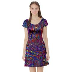Modern Abstract 45a Short Sleeve Skater Dress