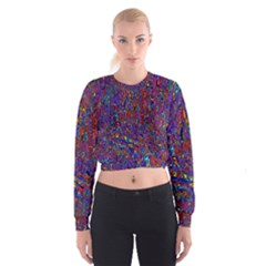 Modern Abstract 45a Cropped Sweatshirt