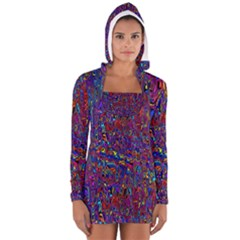 Modern Abstract 45a Long Sleeve Hooded T Shirt