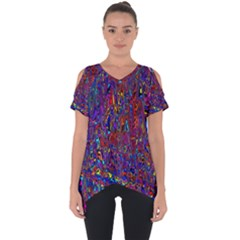 Modern Abstract 45a Cut Out Side Drop Tee