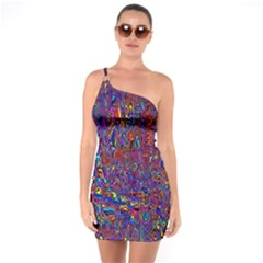 Modern Abstract 45a One Soulder Bodycon Dress