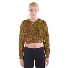 Modern Abstract 45c Cropped Sweatshirt