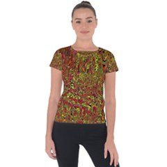 Modern Abstract 45c Short Sleeve Sports Top