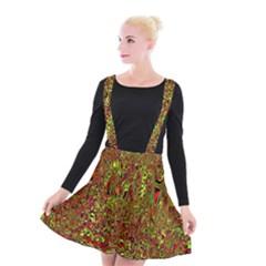 Modern Abstract 45c Suspender Skater Skirt