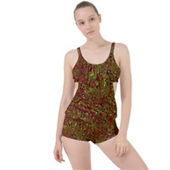 Modern Abstract 45c Boyleg Tankini Set
