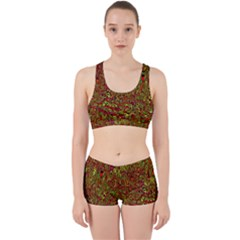 Modern Abstract 45c Work It Out Sports Bra Set