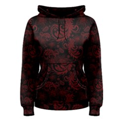Dark Red Flourish Women s Pullover Hoodie