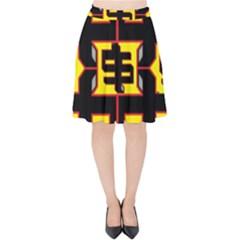 Give Me The Money Velvet High Waist Skirt