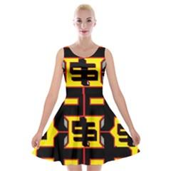 Give Me The Money Velvet Skater Dress