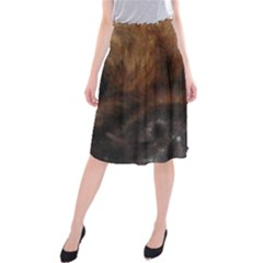 Pekingese Eyes Midi Beach Skirt