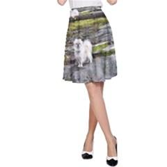 Pekingese Full A Line Skirt