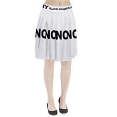 Black Norwegian Elkhound Love Pleated Skirt