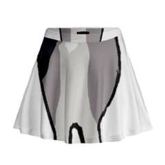 Elkie Dog Butt Mini Flare Skirt