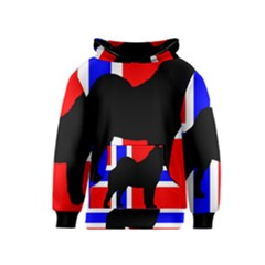 Elkie Silo On Norway Flag Kids  Pullover Hoodie