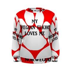 My Norwegian Elkhound Loves Me Women s Sweatshirt