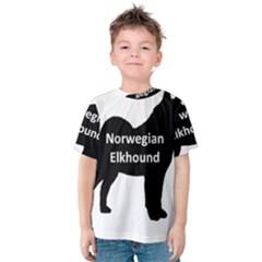 Norwegian Elkhound  Name Silo Black Kids  Cotton Tee