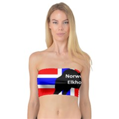 Norwegian Elkhound Name Silo On Norway Flag Bandeau Top