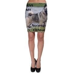 Norwegian Elkhound Love W Pic Bodycon Skirt