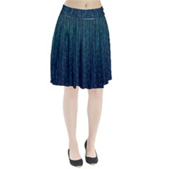 Stylish Abstract Blue Strips Pleated Skirt