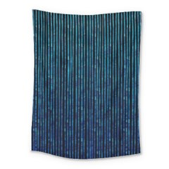 Stylish Abstract Blue Strips Medium Tapestry