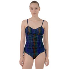 Stylish Colorful Strips Sweetheart Tankini Set
