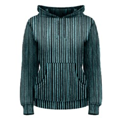 Stylish Frost Blue Strips Women s Pullover Hoodie