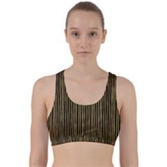 Stylish Golden Strips Back Weave Sports Bra