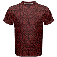 Red Glitter Look Floral Men s Cotton Tee