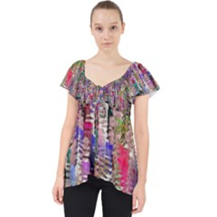 Colorful Shaky Paint Strokes                            Lace Front Dolly Top