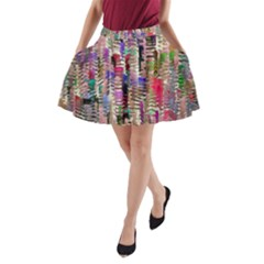 Colorful Shaky Paint Strokes                              A Line Pocket Skirt