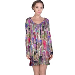 Colorful Shaky Paint Strokes                              Nightdress