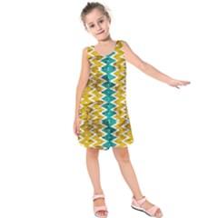 Peeled Paint Texture                              Kid s Sleeveless Dress