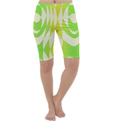 Green Shapes Canvas                              Cropped Leggings