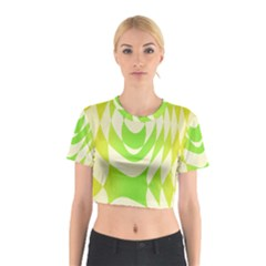 Green Shapes Canvas                              Cotton Crop Top