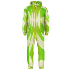 Green Shapes Canvas                              Hooded Jumpsuit (men)