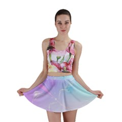 Wings Drawing Soft Background  Mini Skirt