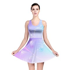 Wings Drawing Soft Background  Reversible Skater Dress