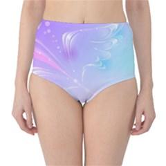 Wings Drawing Soft Background  High Waist Bikini Bottoms