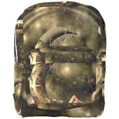 Steampunk Lady  In The Night With Moons Full Print Backpack
