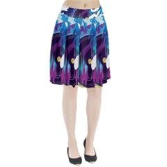 Vinyl Stream Wall  Pleated Skirt