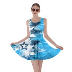 Star Cube Sphere Lines Rays Vector  Skater Dress