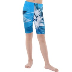 Star Cube Sphere Lines Rays Vector  Kids  Mid Length Swim Shorts