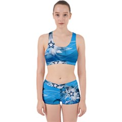 Star Cube Sphere Lines Rays Vector  Work It Out Sports Bra Set