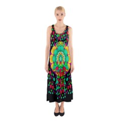 Rain Meets Sun In Soul And Mind Sleeveless Maxi Dress