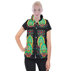 Rain Meets Sun In Soul And Mind Women s Button Up Puffer Vest