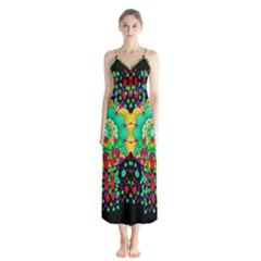 Rain Meets Sun In Soul And Mind Button Up Chiffon Maxi Dress