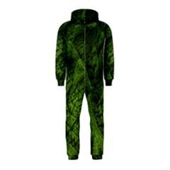 Plant Lines Points Shapes  Hooded Jumpsuit (kids)