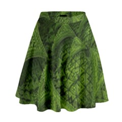Plant Lines Points Shapes  High Waist Skirt