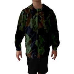 Military Background Texture Surface  Hooded Wind Breaker (kids)